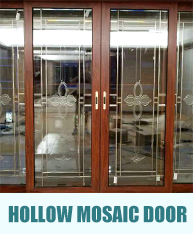 Hollow mosaic door